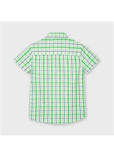 Mayoral Mayoral Erkek Çocuk Kisakol Ekose Gömlek Kırmızı 20288 Yeşil